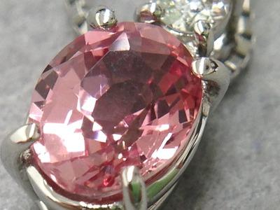 パパラチアサファイア買取 0.8ct ダイヤモンド ペンダント PT 宝石買取は専門査定士所属のMARUKA